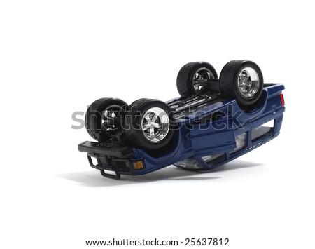 Overturned Model Vehicle