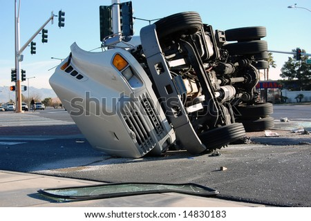 Overturned Truck, Las Vegas, Nevada