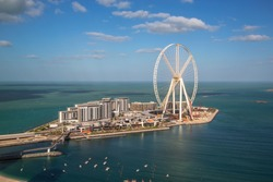 Overview of Blue Water Island Dubai UAE - morning time