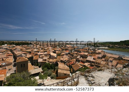 Overview of Gruissan Town - South of france