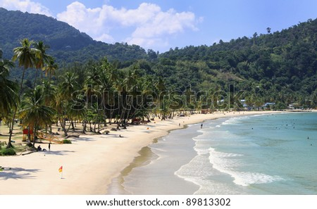Overview of Maracas Beach - Trinidad