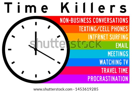 Overview of the most important time killers decreasing productivity