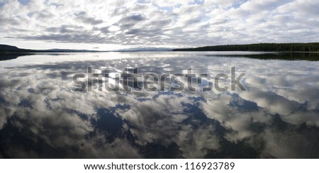 overview of Yellowstone Lake in Yellowstone National Park in Wyoming in the United States of America