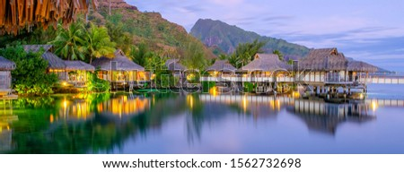 Overwater bungalows in Moorea, French Polynesia #1562732698