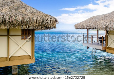 Overwater bungalows in Moorea, French Polynesia #1562732728