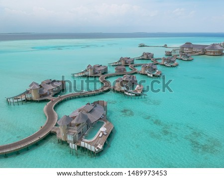 Photo of Overwater bungalows in the Maldives