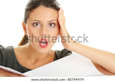 Closeup Portrait Of Fear Speechless Stock Photo 413811766