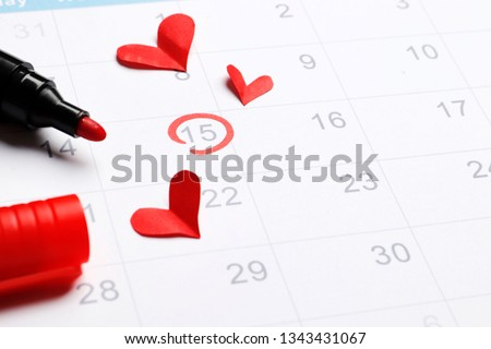 ovulation Planning calendar  Stock photo ©