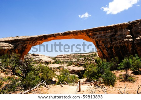 Owachomo Bridge at Natural Bridges national monument