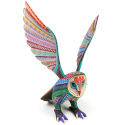 Owl alebrije wood carving sculpture mexican folk art decor