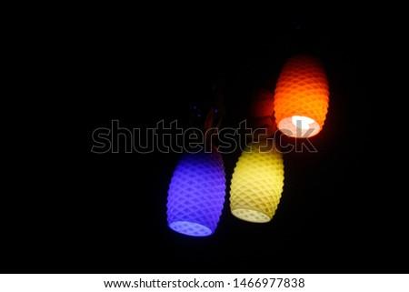 Own Wedding Paper Lantern Chandelier - Three paper lantern