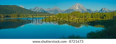 Oxbow Bend in the summer, Grand teton national park, Wyoming