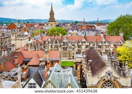 Oxford cityscape. Oxfordshire, England, UK