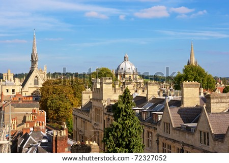 Oxford viewed from Saxon Tower. England