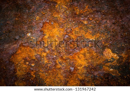 Oxidized metal surface making an abstract texture, high resolution. stock photo