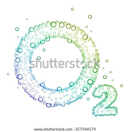oxygen bubbles O2 #357544574