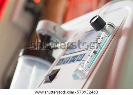 Oxygen concentrator bar gage measurement liter made my pure water #578952463