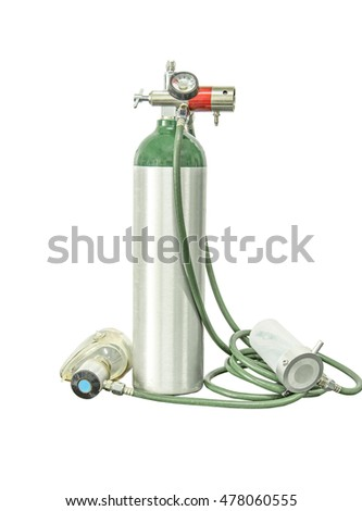oxygen cylinder add clipping path #478060555