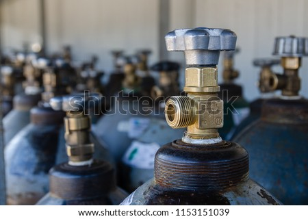 Oxygen cylinders. Steel cylinders with compressed air. #1153151039