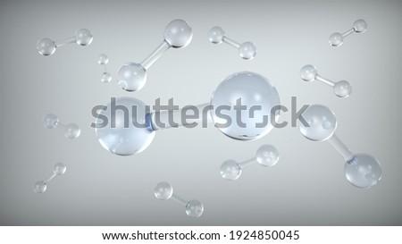 Oxygen Molecular Structure Model Image Сток-фото ©