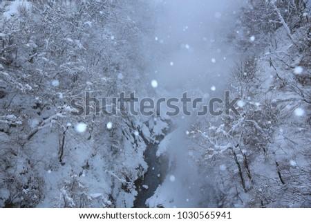 Oyasu Gorge in winter #1030565941