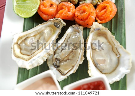 oyster and salmon