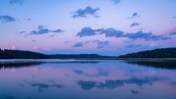 Oyster Bay Blue Hour Skies along Puget Sound