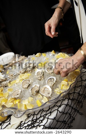 Oyster on a half shell