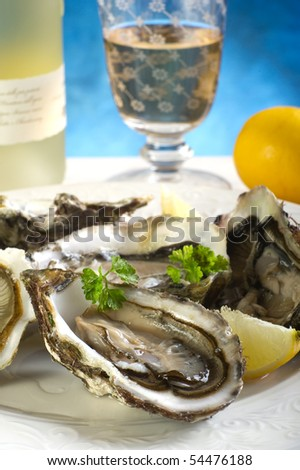 oyster on dish