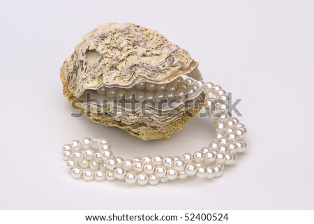 oyster with pearl necklace