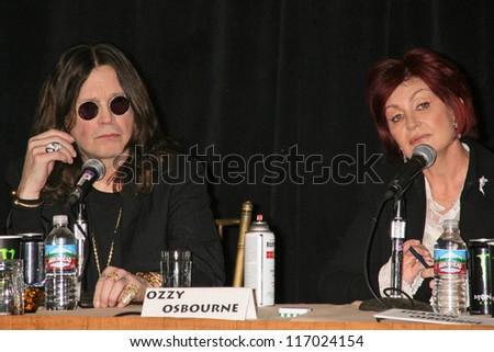 Ozzy Osbourne and Sharon Osbourne at the OZZFEST 2007 press conference. Century Plaza Hotel, Century City, CA. 02-06-07