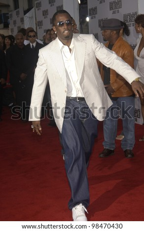P. DIDDY at the world premiere, in Los Angeles, of Bad Boys II. July 9, 2003  Paul Smith / Featureflash