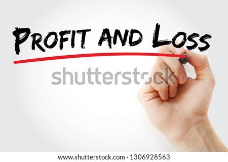 P&L - Profit and Loss acronym, business concept background Stock fotó ©