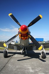 P51 Mustang On display at an airshow