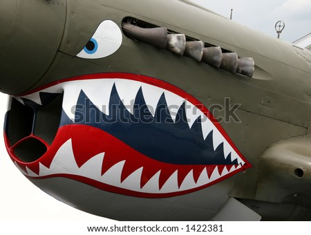 p40 nose art - stock photo