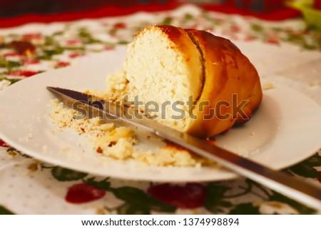 Pão de trigo caseiro Foto stock ©