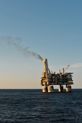 PA-B sea oil production platform, Sakhalin, Russia