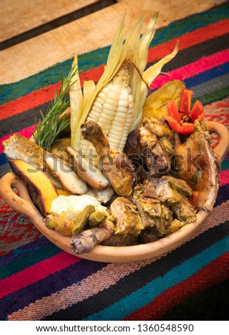 Pachamanca: traditional Peruvian food cooked underground and stones. A great variety of tubers and meats are cooked. 4