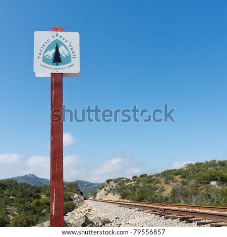 Pacific Crest Trail Sign in California, USA
