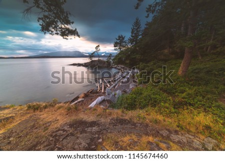 Pacific North West Islands on Bowen Island Howe Sound and the Salish Sea Vancouver Scenics and Landscapes #1145674460