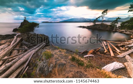Pacific North West Islands on Bowen Island Howe Sound and the Salish Sea Vancouver Scenics and Landscapes #1145674463