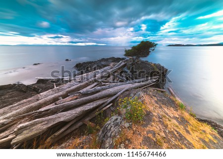 Pacific North West Islands on Bowen Island Howe Sound and the Salish Sea Vancouver Scenics and Landscapes #1145674466