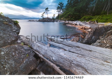 Pacific North West Islands on Bowen Island Howe Sound and the Salish Sea Vancouver Scenics and Landscapes #1145674469
