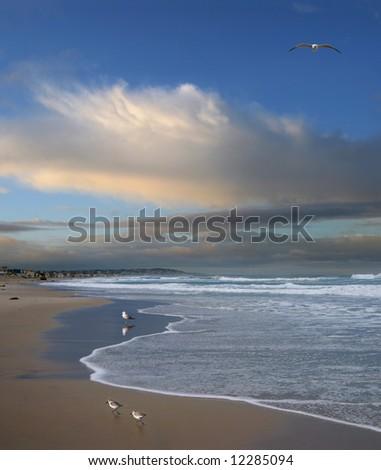 Pacific Ocean, Early Morning, San Diego, California,  Digital Composite