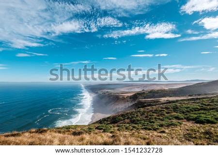 Pacific ocean Sea Bay Beach Wawe Rock Mountain Nature California America USA Landscape Skyline Color Light Travel Turism