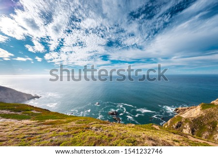 Pacific ocean Sea Bay Beach Wawe Rock Mountain Nature California America USA Landscape Skyline Color Light Travel Turism