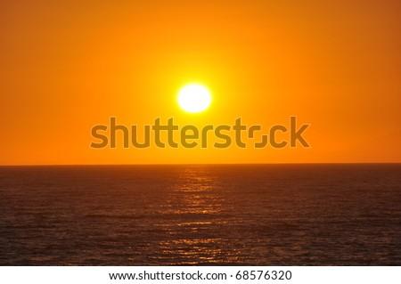 Pacific ocean sunset #68576320