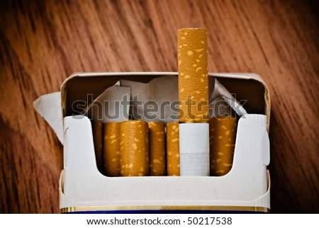 pack of cigarettes on table