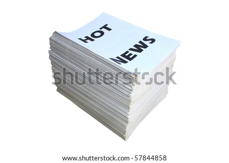 Pack of folded newspapers