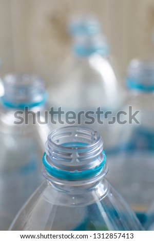 Safety Stock - Pack of transparent empty pet plastic water